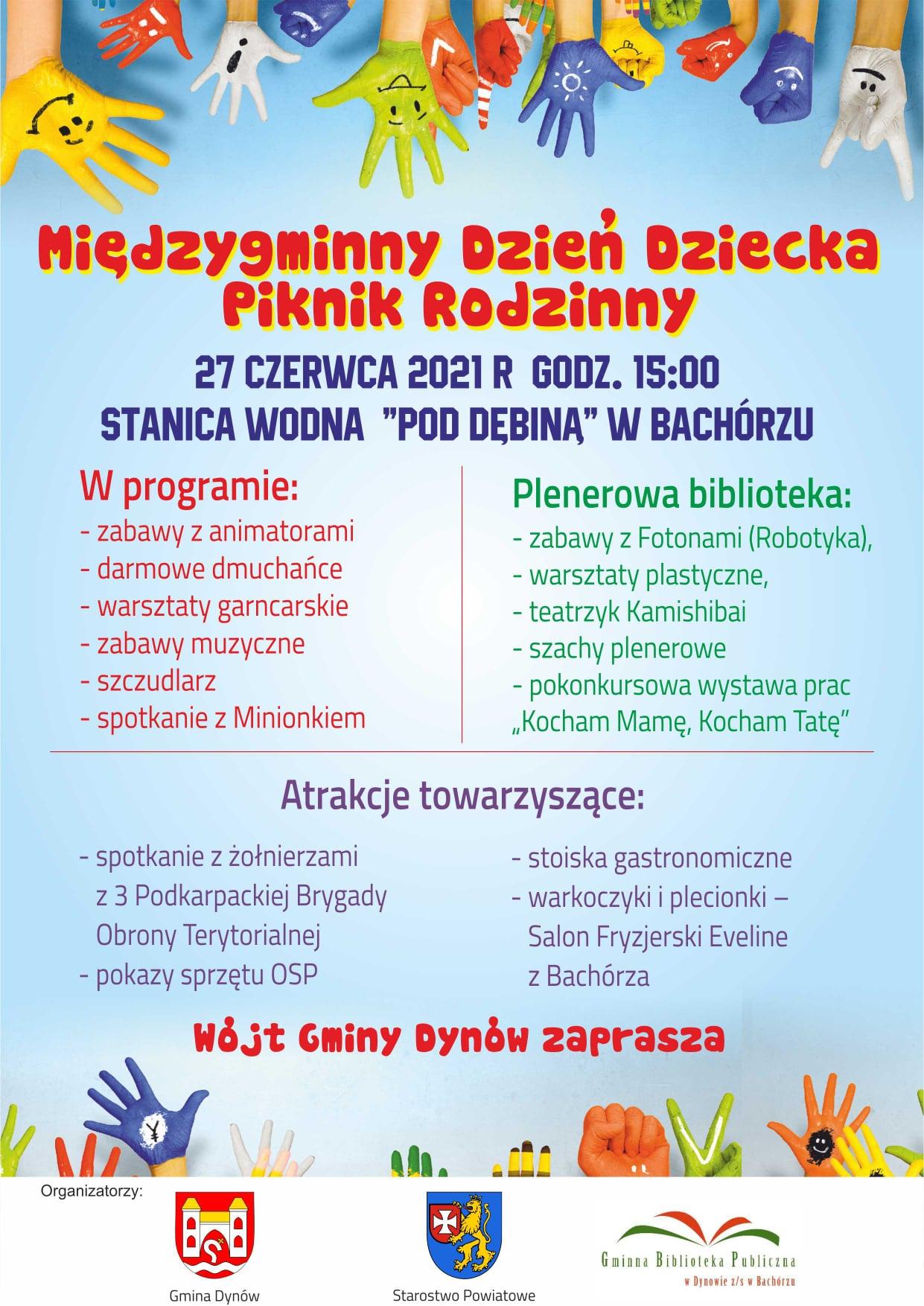 Międzygminny Dzień Dziecka- Piknik Rodzinny- 27 czerwca 2021