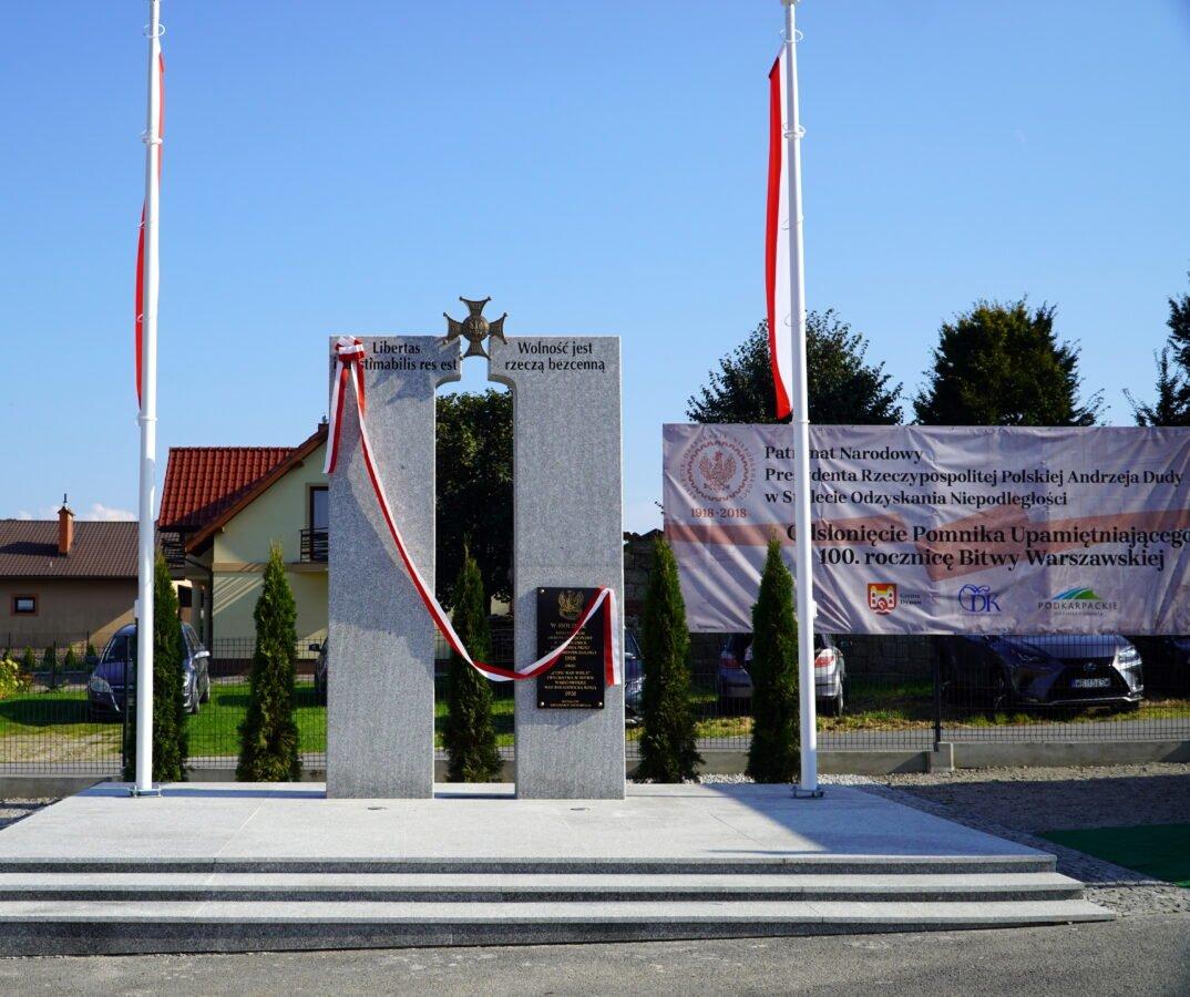 Uroczyste obchody Odsłonięcia Pomnika Upamiętniającego 100. Rocznicę Bitwy Warszawskiej 1920 r. w miejscowości Harta, Gmina Dynów